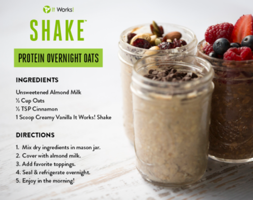 It Works Shake Overnight Oats
